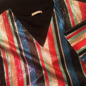 Zara || Sequin Shirtdress